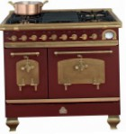 Restart ELG023 Burgundy Kitchen Stove, type of oven: electric, type of hob: gas